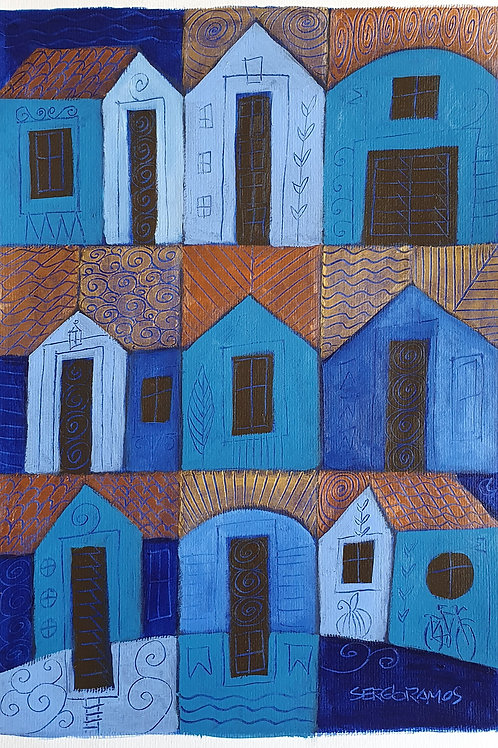 o azul de cada casa 42x30