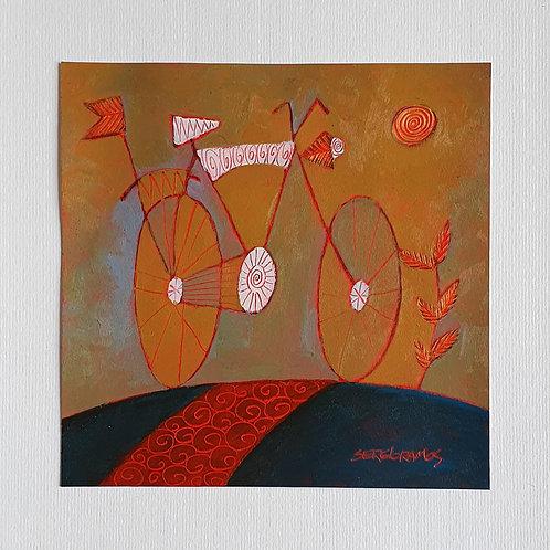 bicicleta antiga 20x20