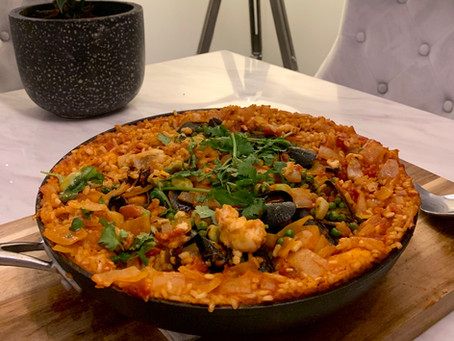 Come Dine With Me - Lockdown Style. Scallops and Paella Recipe