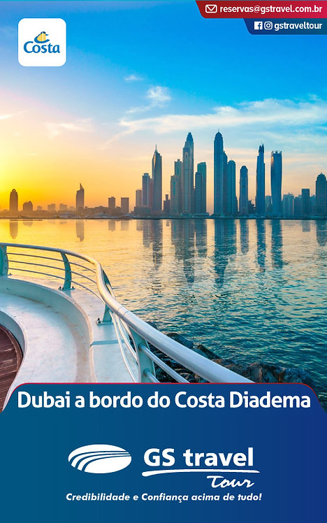 Dubai a bordo do Costa Diadema