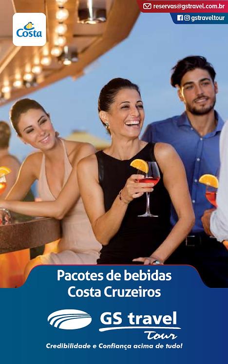 Pacotes Bebidas Costa Cruzeiros