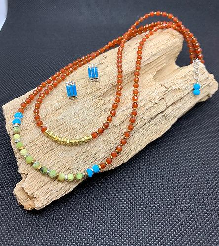 Double Strand Carnelian Necklace