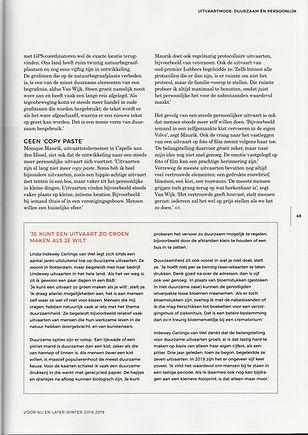 artikel lindewey in 'voor nu en later' 2
