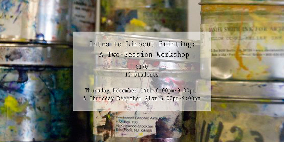 SOLD OUT!! Intro to Linocut Printing: A Two-Session Workshop