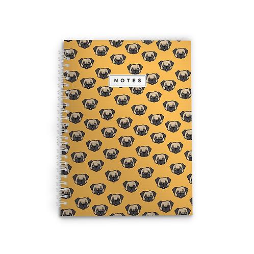 Pug Face Spiral Notebook