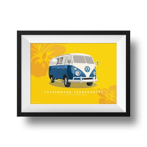 VW Transporter T1 Camper Minimalist Print