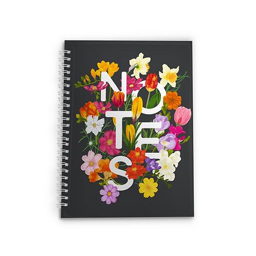 Pretty Garden Spiral Notebook