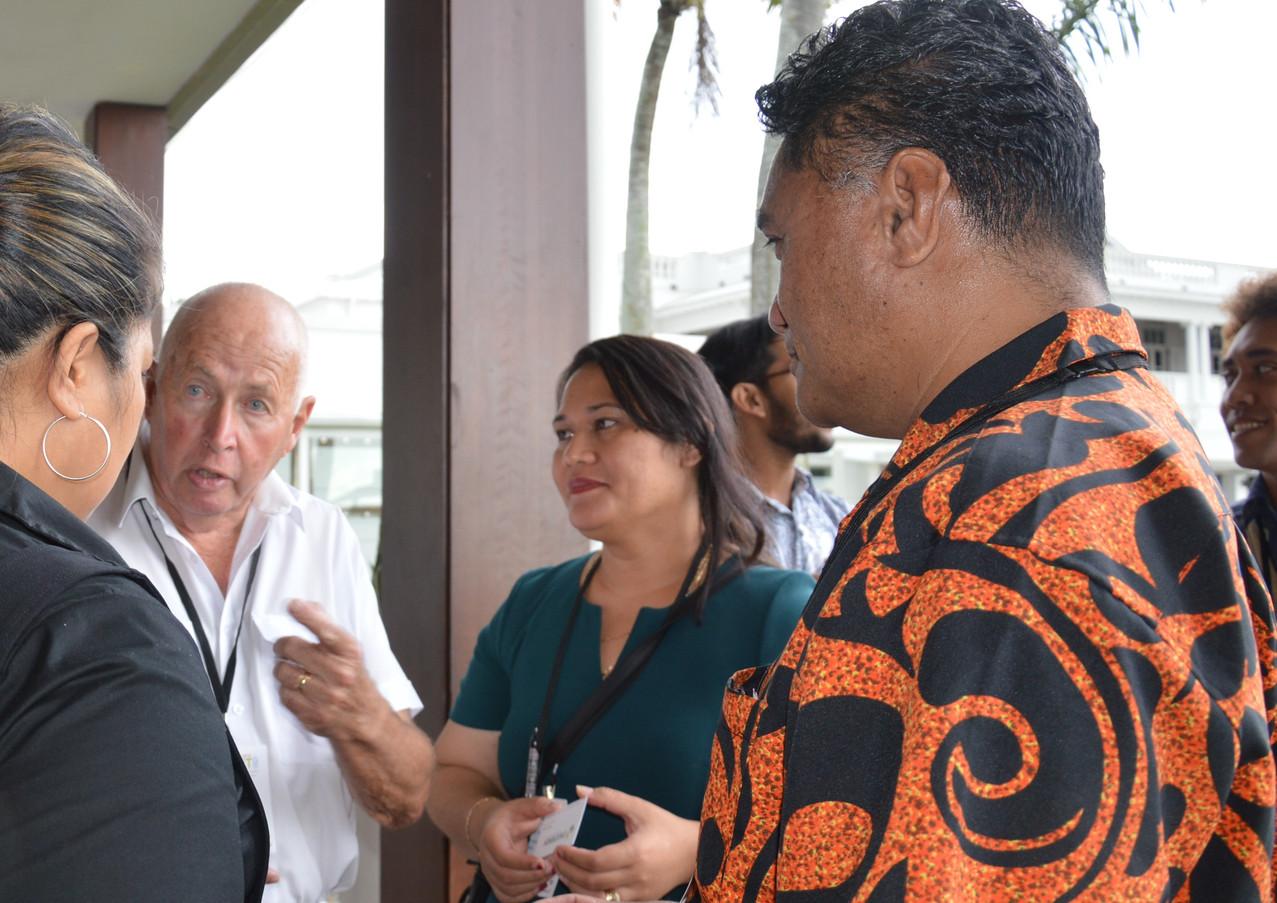 Marina Keli Samoa Recycler Assoc Mike Tu