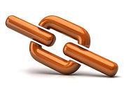 Orange chain link icon.AdobeStock_487474