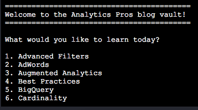 Analytics Pros blog scrape using Ruby