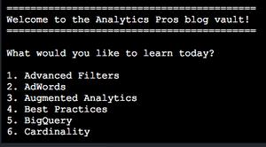 Analytics Pros blog scrape using Ruby