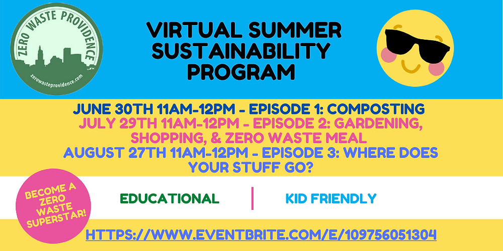 Summer Sustainability Series flyer