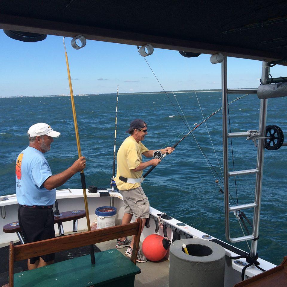 Captain Steve on a fishing charter