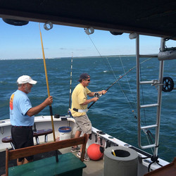 Captain Steve on a fishing charter