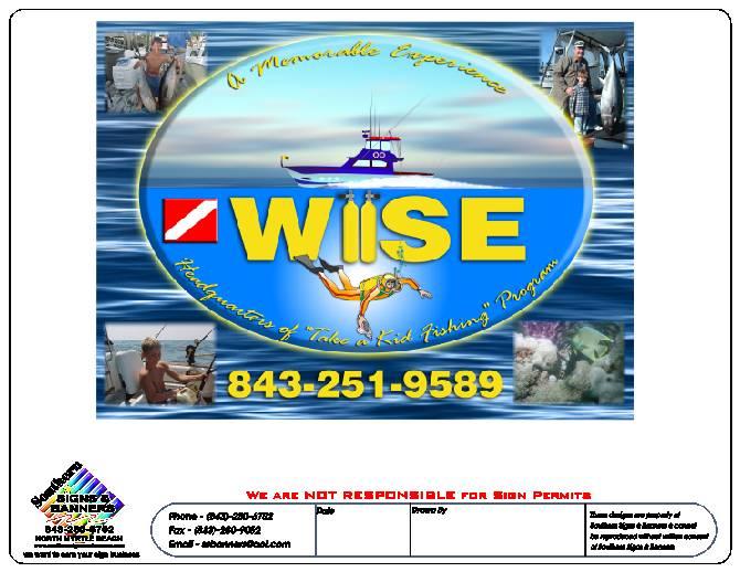 Wise fishing Charter Logo