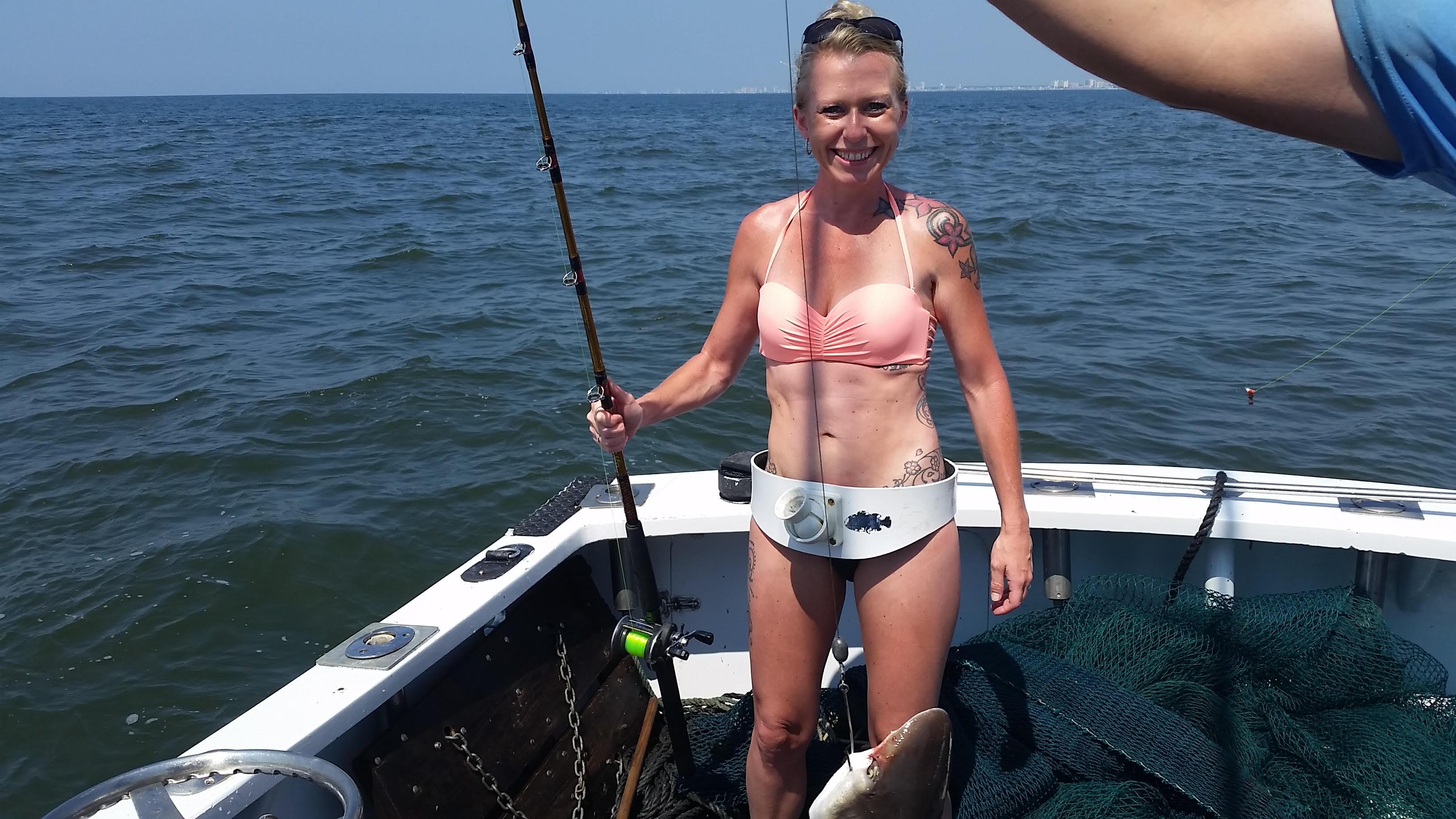 Fisherman on myrtle fishing trip