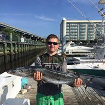 King Mackerel on fishing charter
