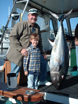 Big Blue Fin Tuna