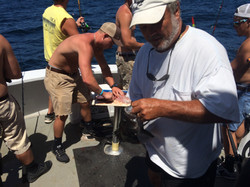 Captain wise helps fishing charter
