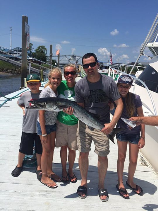 Barracuda caught on Fishing Charter