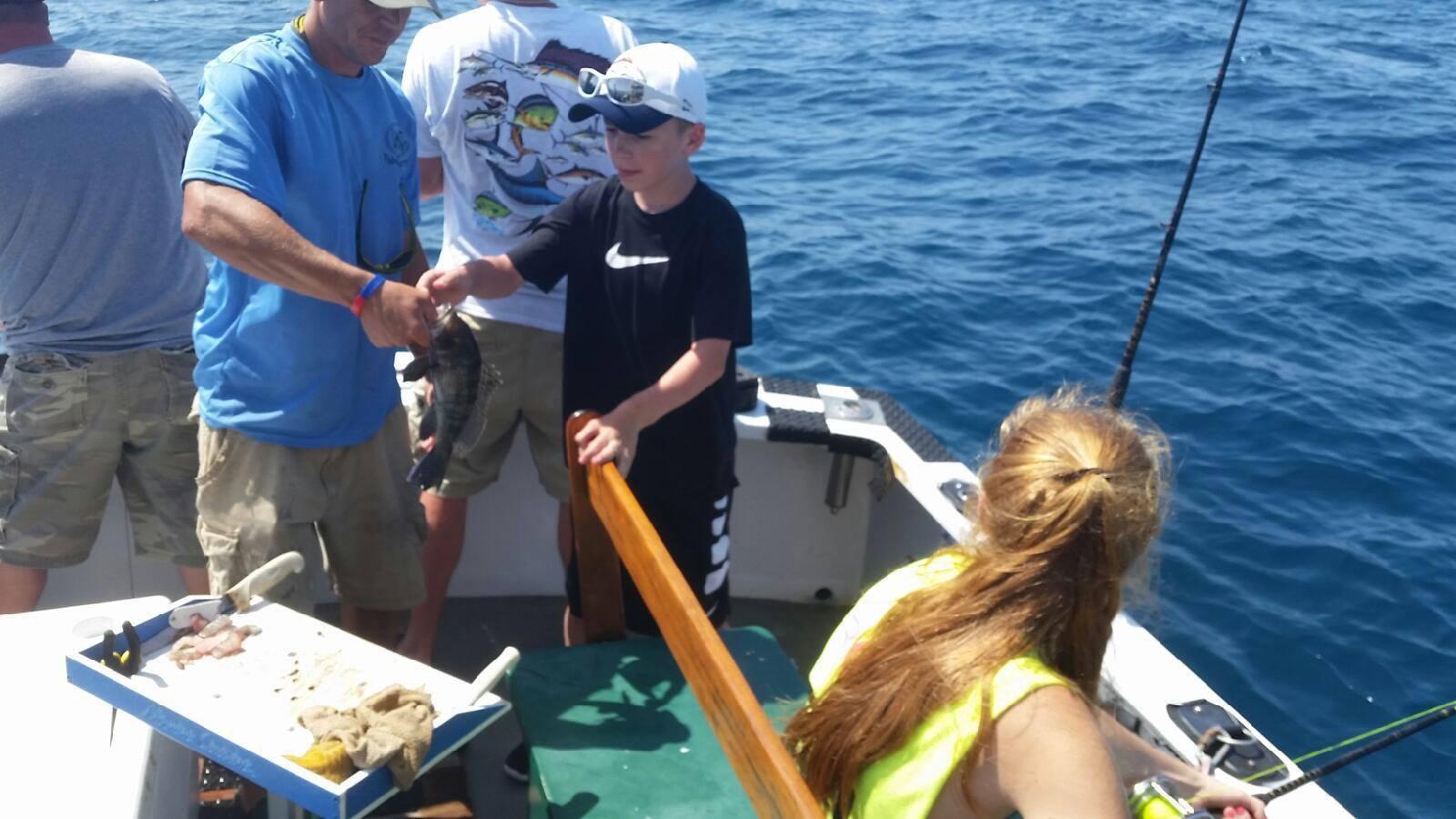 Wise fishing sea bass