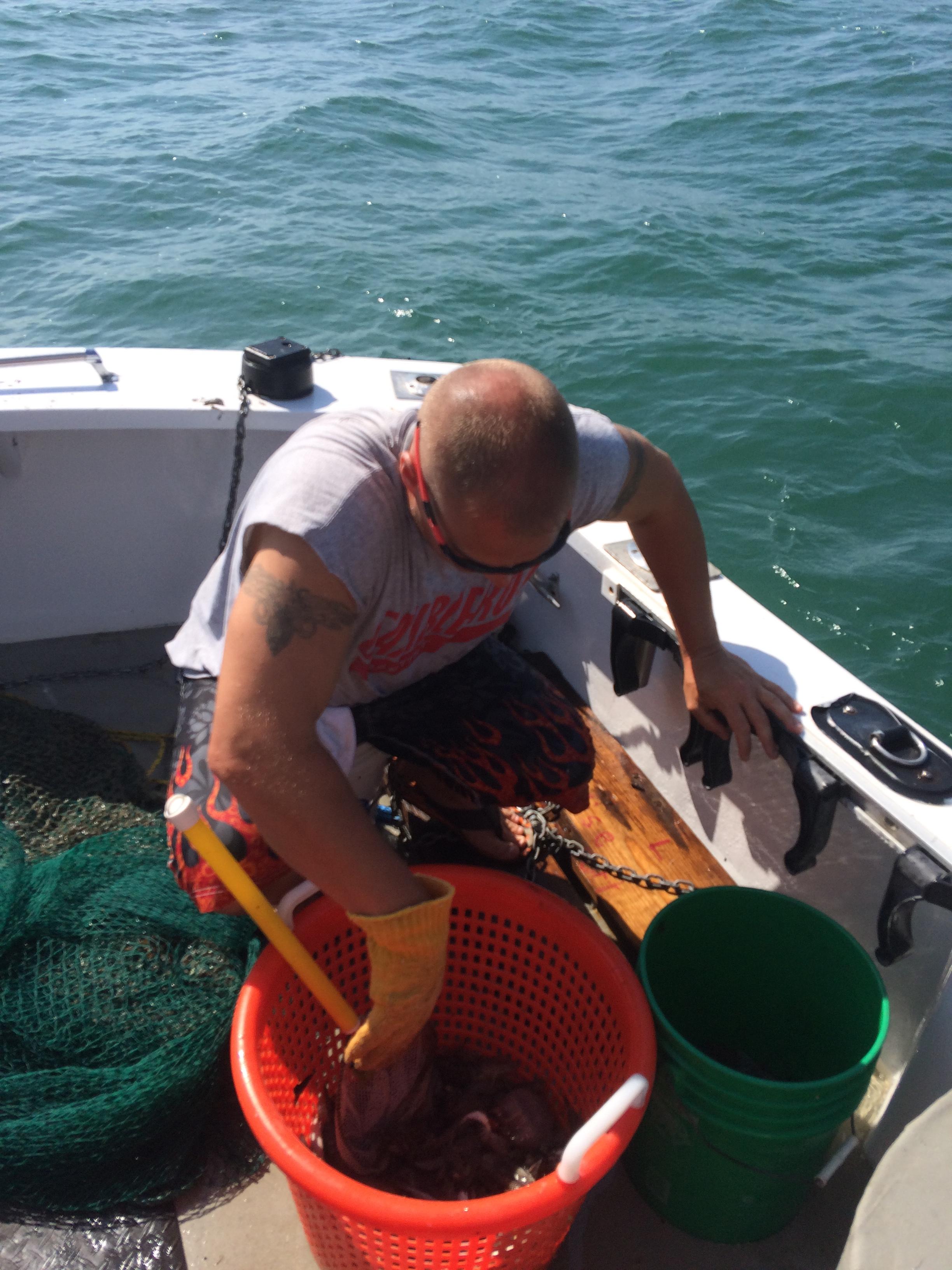 trawling net on fishing charter