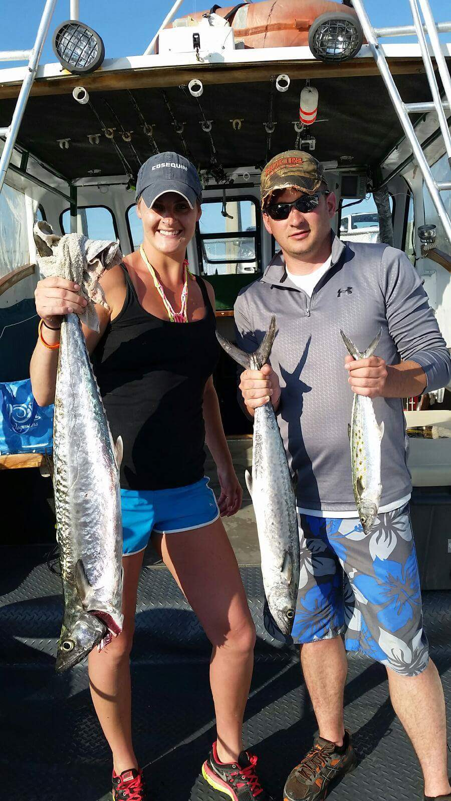 Two Big fish from fishing charter