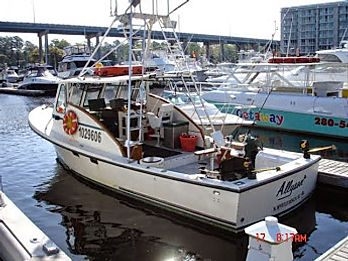 North Myrtle Fishing Charter boat at dock