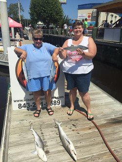 wise fishing charters happy ladies
