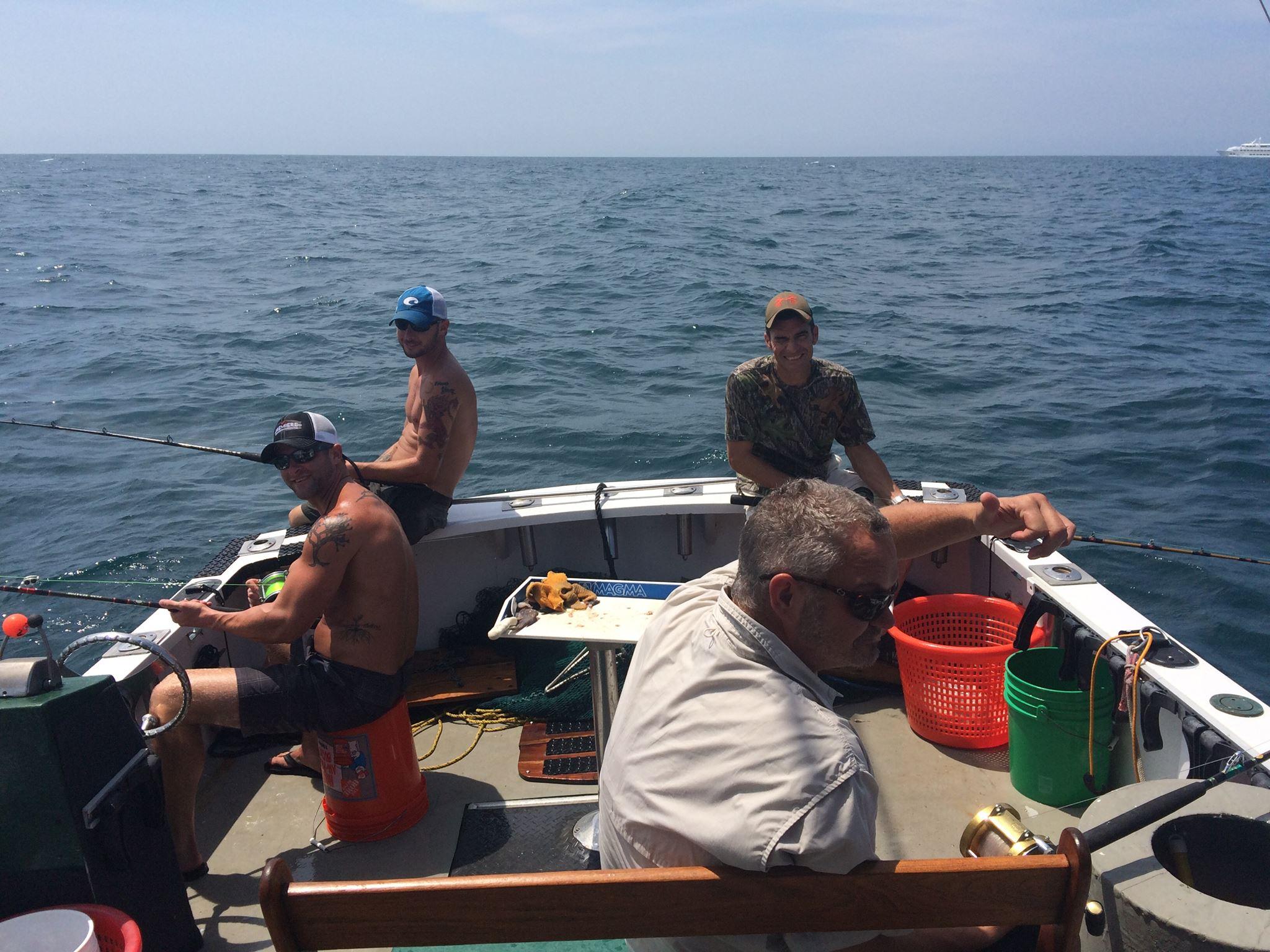 group of wise fishing men