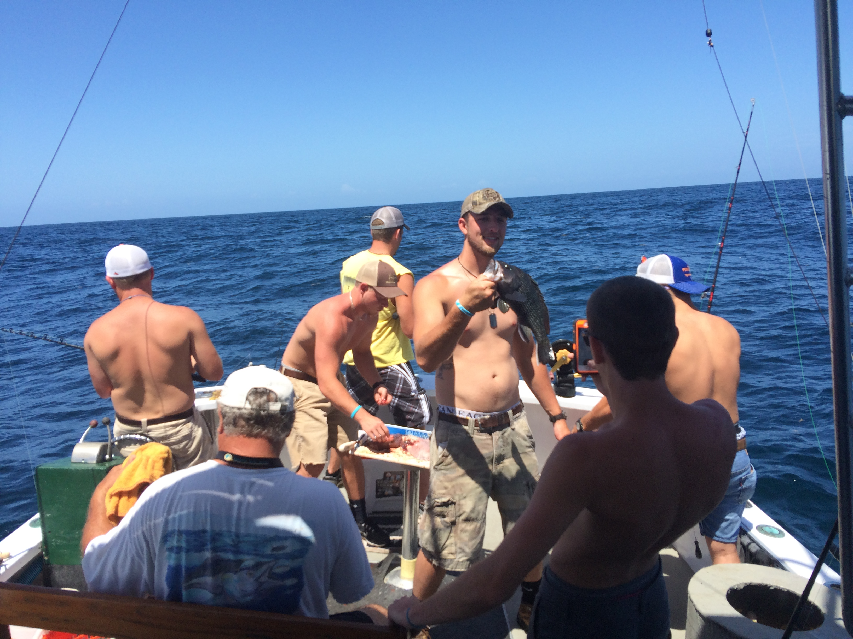 Group on fishing trip