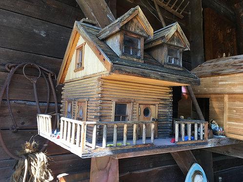 Maison en bois ronds, art populaire québécois, Ile d'Orléans