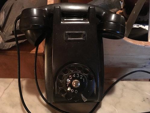 Téléphone mural a roulette ancien Ericsson 1960