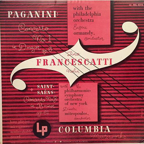 Paganini: Concerto No. 1 in D Major, Op. 6 + Saint-Saëns: Concerto No. 3 in B