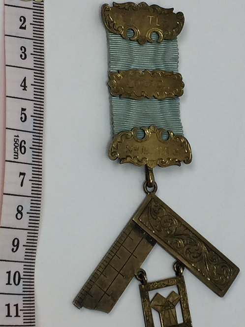 Rare Médaille antique de loge franc-maçon 1947