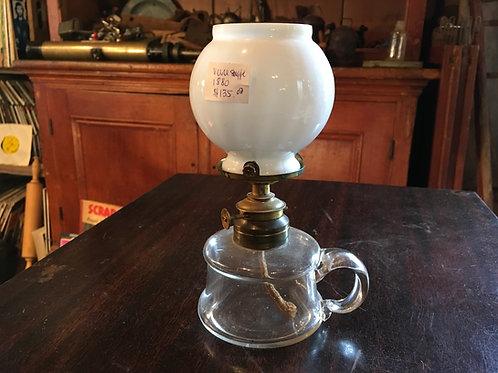 Petite lampe à l'huile en verre soufflé circa 1880