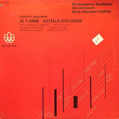 Compil - Montréal 1976 10 Chansons Finalistes Du Concours De La Chanson D'Adieu