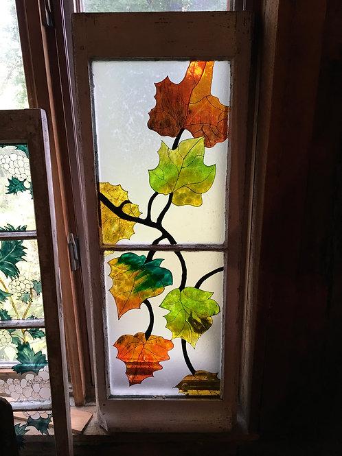 Fenêtre centenaire peinte par une artiste de MTL
