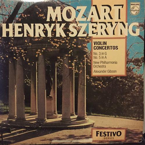 Henryk Szeryng, New Philharmonia Orchestra, Mozart – Violin No 3 & 5