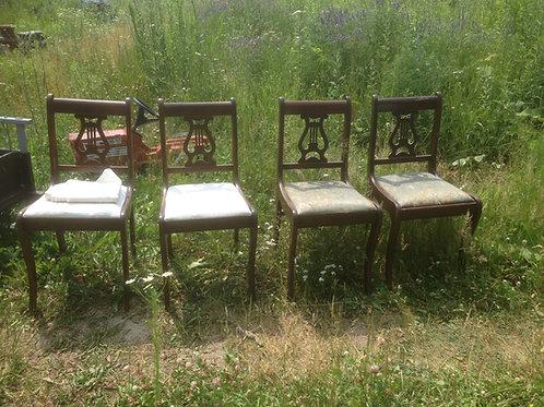 Ensemble de quatre chaises Dunken Phyfe XIX