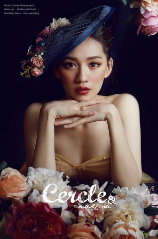 高雄新秘推薦 歐美妝 韓妝 韓系 歐美 古典 法式 禮帽 帽子造型 Taiwan stylist  Stylist Bride style