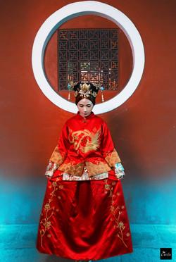 中國風 鳳冠婚紗