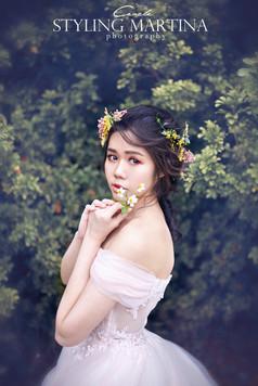 高雄新秘 新秘推薦 韓風造型 韓妝 森林系造型 柔美造型