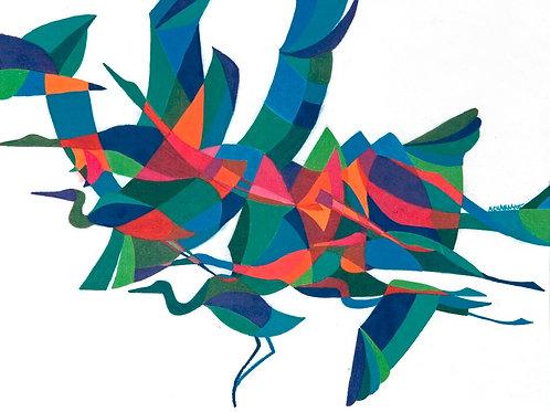 Cranes - Print