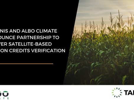 TARANIS AND ALBO CLIMATE ANNOUNCE PARTNERSHIP TO DELIVER SATELLITE-BASED CARBON CREDITS VERIFICATION