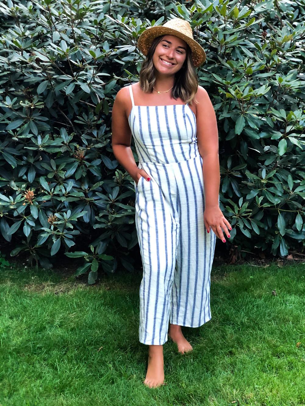 Striped Linen-Blend Cami Jumpsuit - Old Navy
