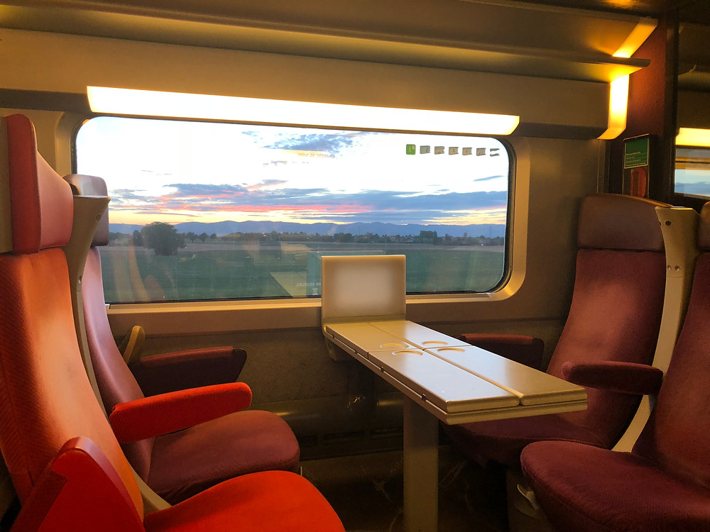 Our train ride to Le Barroux