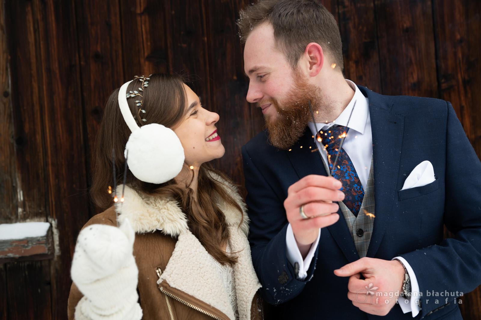 138zimowa sesja ślubna magdalena błachut
