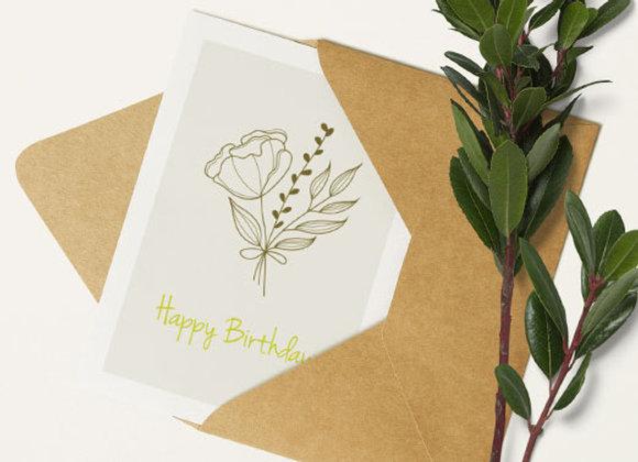 Gift Card - Birthday Flowers