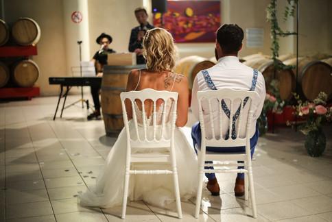 Le mariage au milieux des tonneaux